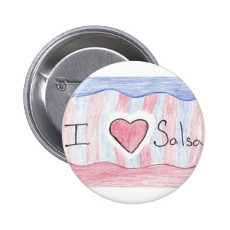 I Love Salsa Flair Button