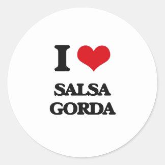 I Love SALSA GORDA Sticker