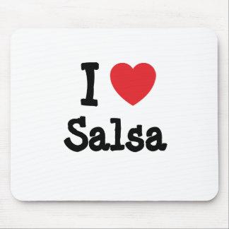 I love Salsa heart custom personalized Mouse Mats