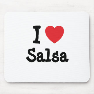 I love Salsa heart custom personalized Mouse Mats