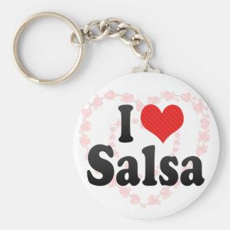 I Love Salsa Key Ring