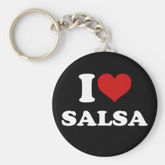 I Love Salsa Key Ring