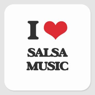 I Love SALSA MUSIC Sticker