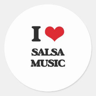 I Love SALSA MUSIC Stickers