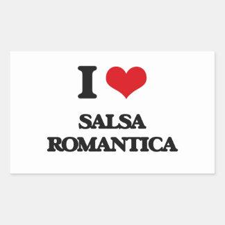 I Love SALSA ROMANTICA Stickers