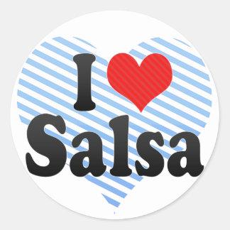 I Love Salsa Round Sticker