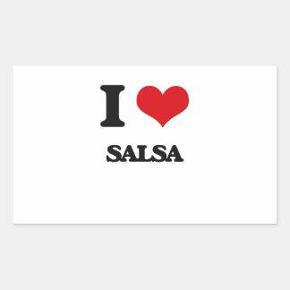 I Love SALSA Rectangle Sticker