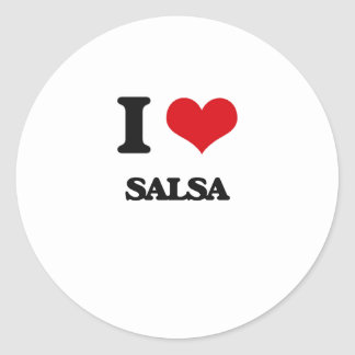 I Love SALSA Sticker