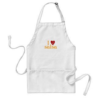 I Love Salsa Swirl Heart Latin Dancing Custom Standard Apron