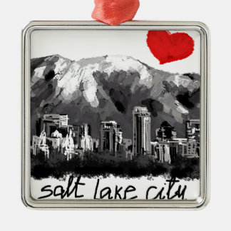 I love Salt Lake City Christmas Ornament