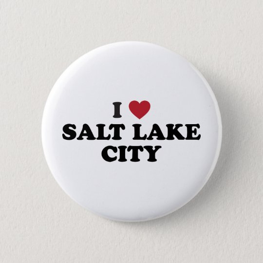 I Love Salt Lake City Utah 6 Cm Round Badge