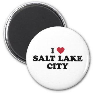 I Love Salt Lake City Utah 6 Cm Round Magnet