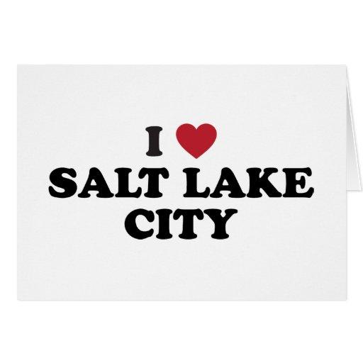 I Love Salt Lake City Utah Card