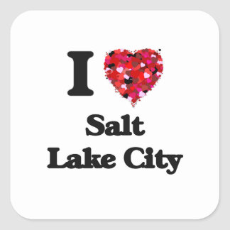 I love Salt Lake City Utah Square Sticker
