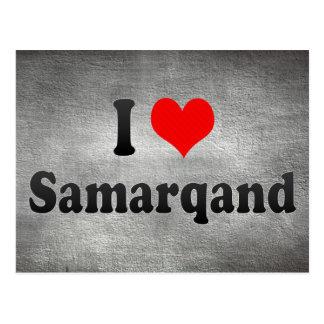 I Love Samarqand, Uzbekistan Postcard