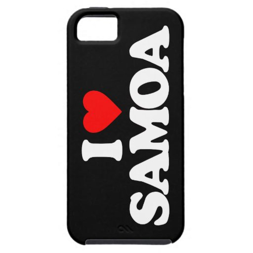I LOVE SAMOA iPhone 5/5S CASE