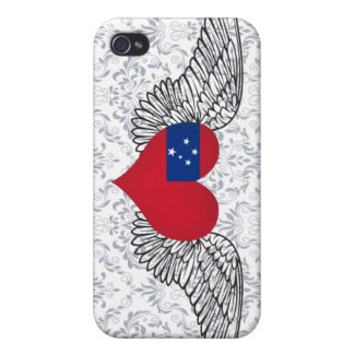 I Love Samoa -wings Case For iPhone 4