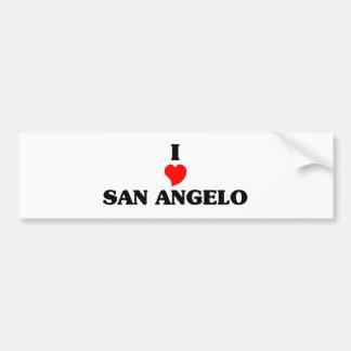I love San Angelo Bumper Sticker