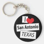 I Love San Antonio Texas Key Chain