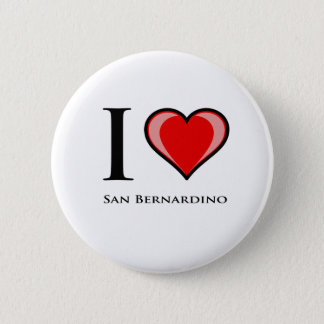 I Love San Bernardino 6 Cm Round Badge
