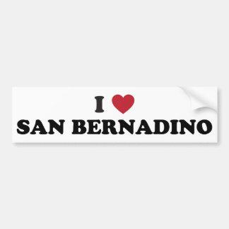 I Love San Bernardino California Bumper Sticker