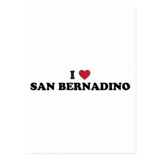 I Love San Bernardino California Postcard