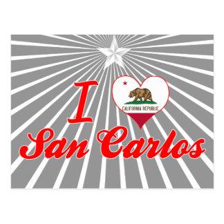 I Love San Carlos California Post Card