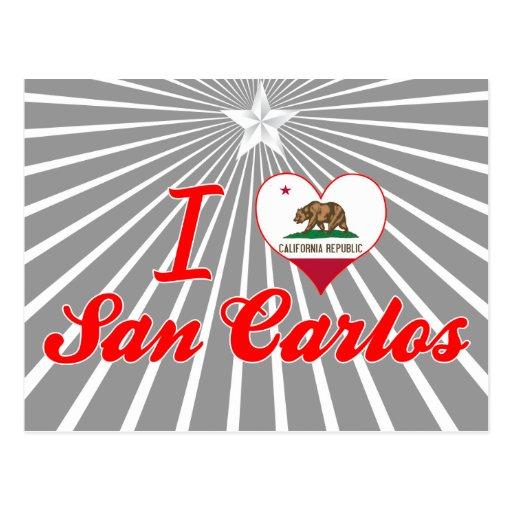 I Love San Carlos, California Post Card