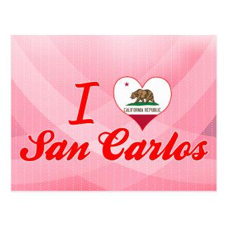 I Love San Carlos California Postcard