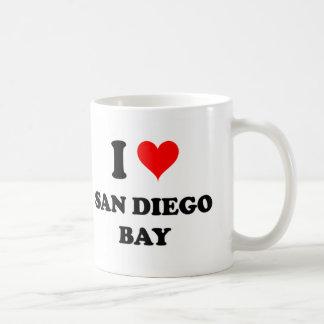 I Love San Diego Bay California Coffee Mugs