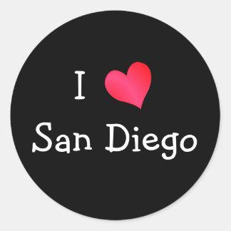 I Love San Diego Classic Round Sticker