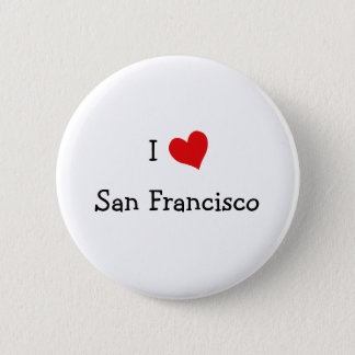 I Love San Francisco 6 Cm Round Badge