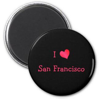 I Love San Francisco 6 Cm Round Magnet