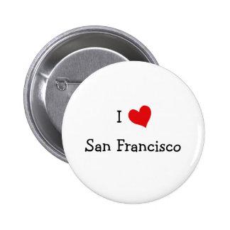 I Love San Francisco Pinback Button