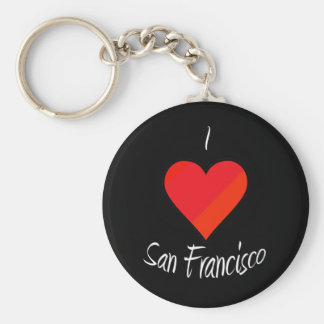 I Love San Francisco Basic Round Button Key Ring