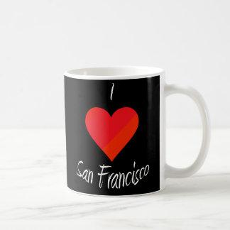 I Love San Francisco Basic White Mug