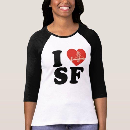 I love san francisco bridge heart T-Shirt