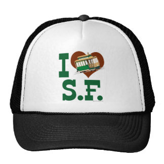 I love San Francisco Cable Cars Mesh Hat