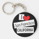 I Love San Francisco California Keychain