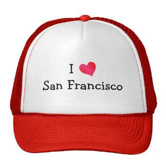I Love San Francisco Hats
