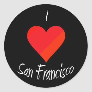 I Love San Francisco Classic Round Sticker