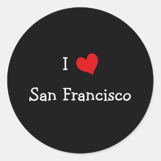 I Love San Francisco Classic Round Sticker