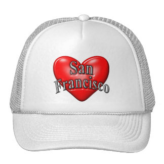 I Love San Francisco Mesh Hats