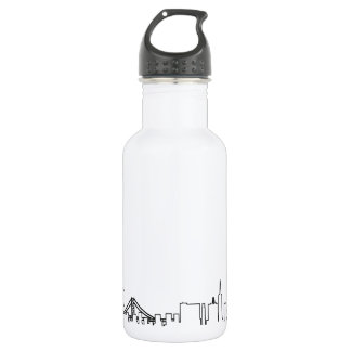 I love San Francisco in an extraordinary ecg style 532 Ml Water Bottle
