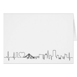 I love San Francisco in an extraordinary ecg style Greeting Card