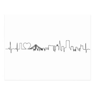 I love San Francisco in an extraordinary ecg style Postcard