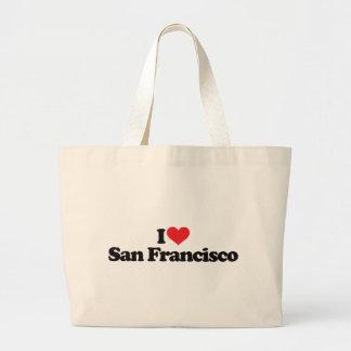 I Love San Francisco Large Tote Bag
