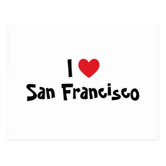 I Love San Francisco Postcard