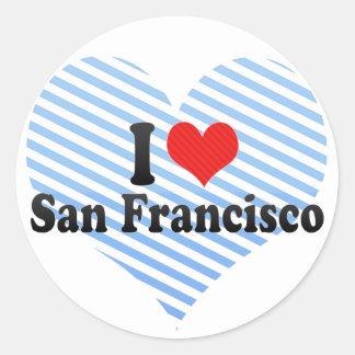 I Love San Francisco Round Stickers