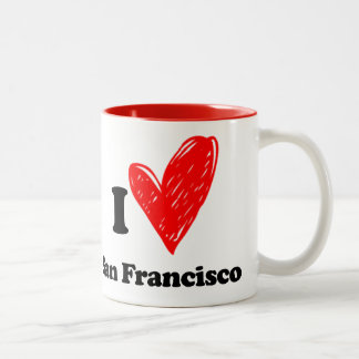 I love San Francisco Two-Tone Mug